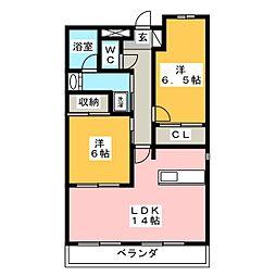 Benvenuto大市場[2階]の間取り