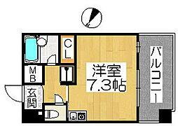 シュプレーム堺[2階]の間取り