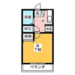 ツインリーブスA・B[2階]の間取り