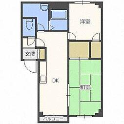 大友パークマンション[1階]の間取り