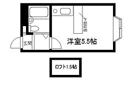 ベルピア渋沢第一[202号室]の間取り