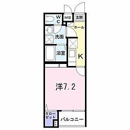 東京都多摩市関戸5丁目の賃貸マンションの間取り