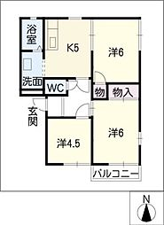 コーポMASA−I[2階]の間取り