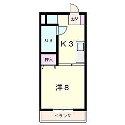 クローバーハイツ2[5階]の間取り