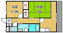 富士第二ビル[4階]の間取り
