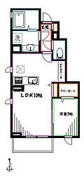 JR中央本線 三鷹駅 徒歩7分の賃貸アパート 1階1LDKの間取り