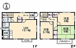 [一戸建] 愛媛県松山市余戸南3丁目 の賃貸【愛媛県 / 松山市】の間取り
