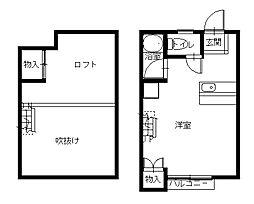 長崎県長崎市高丘2丁目の賃貸アパートの間取り