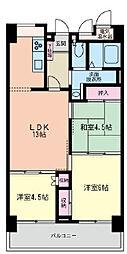 二俣川駅徒歩8分 グリーングラス404号室[4階]の間取り
