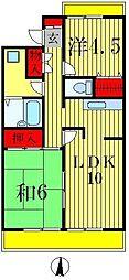 ニューオクトピアモリタマンション[1階]の間取り