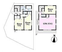 C区画 建物参考プランお好きなハウスメーカー・工務店にて建築頂けます。現地ご案内希望や詳細資料請