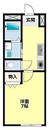 愛知県豊田市若宮町4丁目の賃貸マンションの間取り