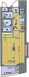 ガラ・シティ田町[6F号室]の間取り