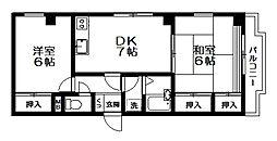 ベルフラワー井草[306号室]の間取り