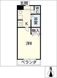 エクセランス小池 II[1階]の間取り