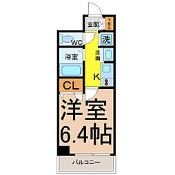 プレサンス大須観音駅前サクシード(407)[407号室]の間取り