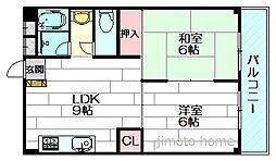 グリーンハイツ竹園[5階]の間取り