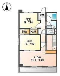 サンク・エトワ−ル[6階]の間取り