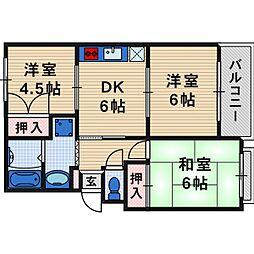 タカラマンションI[2階]の間取り