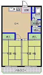 三の丸ブルーハイム[106号室]の間取り