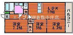 ルネス武田[3階]の間取り