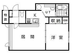 北海道旭川市神居八条10の賃貸アパートの間取り