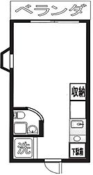東京都杉並区方南2丁目の賃貸マンションの間取り