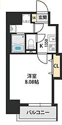 Dwelling ASAHI 8階1Kの間取り