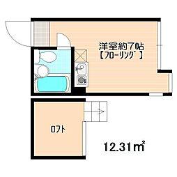 ユナイト鶴見ラ・マルシエール[2階]の間取り