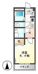 プチ・コンフォール[2階]の間取り