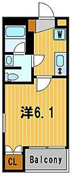 神奈川県横浜市南区共進町2丁目の賃貸マンションの間取り