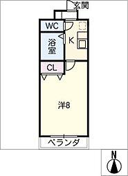 シーズンコート瀬戸[2階]の間取り