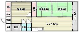 プレアール喜多[4階]の間取り