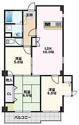 アンハウス 3階3LDKの間取り