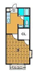 ボナールネオ[2階]の間取り