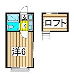 プラスコート白幡[2階]の間取り