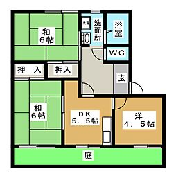 愛知県名古屋市北区楠味鋺1丁目の賃貸アパートの間取り