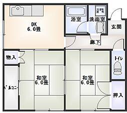 堀口ビル3階Fの間取り画像
