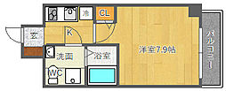 SERENiTE江坂四番館[2階]の間取り