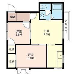 Casa・Verde B[1階]の間取り