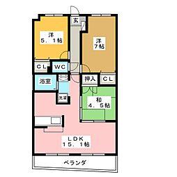 ラフォーレ23[2階]の間取り