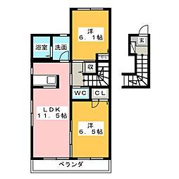 メゾンアイリスI[2階]の間取り