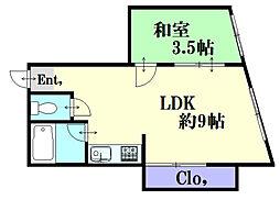 堺町Yビル[402号室]の間取り