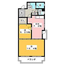 第2三浩ビル[2階]の間取り
