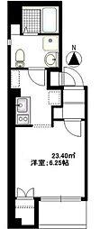 東京都台東区千束2丁目の賃貸マンションの間取り