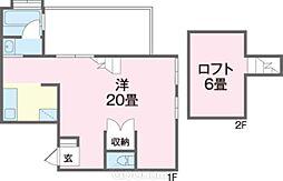 KURASUKA南上原 4階ワンルームの間取り