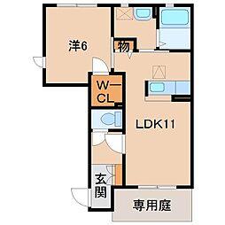 シャーメゾンJ[1階]の間取り