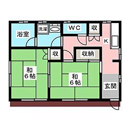 [一戸建] 栃木県宇都宮市富士見が丘4丁目 の賃貸【/】の間取り