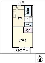 ブランドール S A棟[2階]の間取り