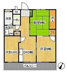 秋葉コーポ[2階]の間取り